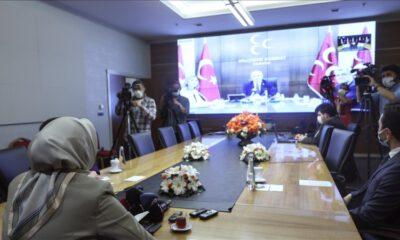 Partiler, video konferans aracılığıyla bayramlaştı