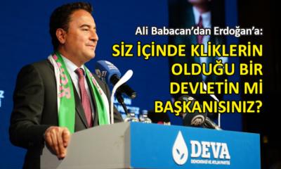 Ali babacan, Erdoğan'a seslendi