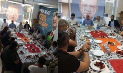 Türk bayraklarını sofra bezi yaptılar