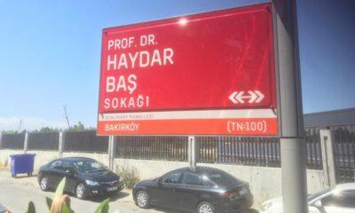 İBB'den Prof. Dr. Haydar Baş Sokağı'na onay