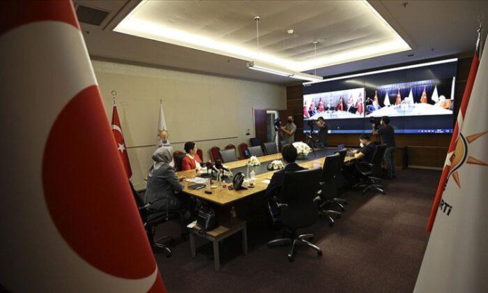 Siyasi partiler video konferansla bayramlaştı