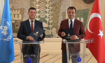 İBB ve UNHRC arasında mültecilere yönelik iş birliği metni imzalandı