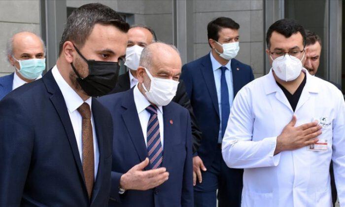 Karamollaoğlu'ndan Asiltürk'e hastanede ziyaret