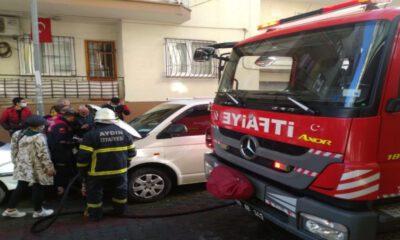 Aydın'da park halindeki araç paniğe neden oldu