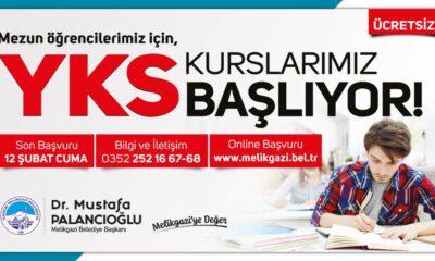 Kayseri Melikgazi'de YKS kursları başlıyor