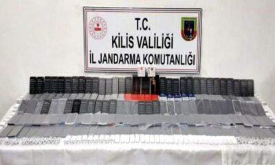 Kilis'te 81 adet kaçak cep telefonu ele geçirildi