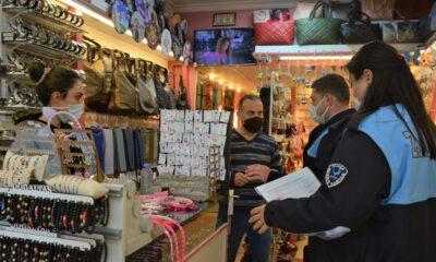İzmir Aliağa'da COVID-19 denetimleri