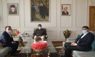 Sivas Valisi'ne teşekkür ziyareti