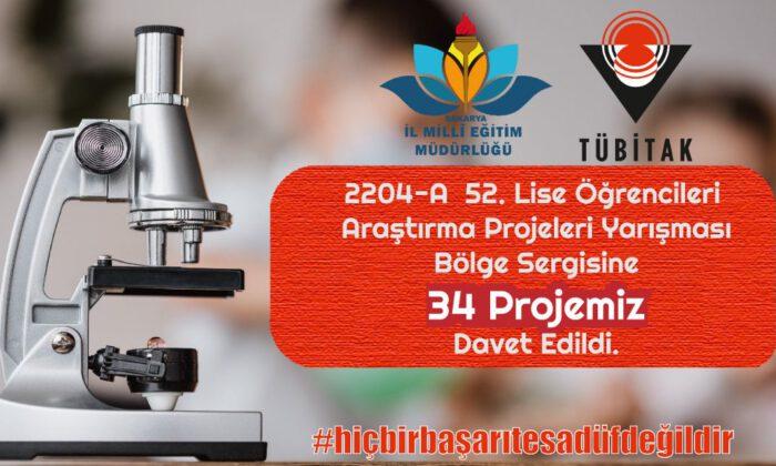 TÜBİTAK Bölge Sergisi'ne Sakarya'dan 34 proje