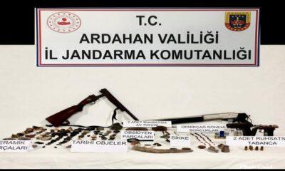 Ardahan'da Jandarma'dan tarihi eser operasyonu