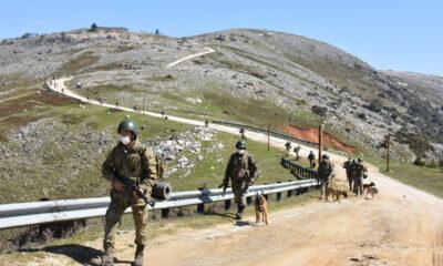 Bursa'da askeri köpek eğiticileri tatbikat yaptı