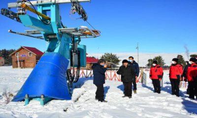 Ardahan'da Yalnızçam Kayak Merkezi'ne Vali Öner'den inceleme