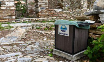 Aydın'da Doğanbey Köyü çöp kutularına kavuştu