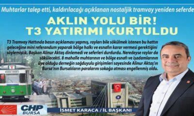 CHP Bursa'dan 'T3' açıklaması