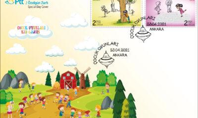 PTT'den çocuklar için özel gün zarfı