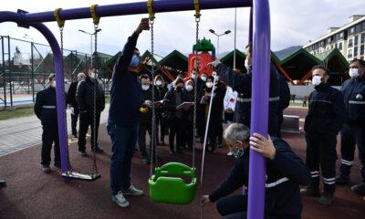 Osmangazi'de çocuklara güvenli park