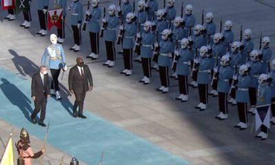 Kongo Cumhurbaşkanına resmi karşılama