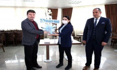 Aksaray Belediye Başkanı Evren Dinçer yeni zabıtalarla buluştu