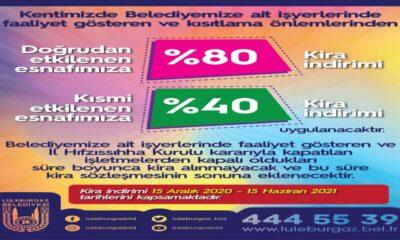 Lüleburgaz Belediyesi'nden esnafa destek