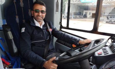 Kocaelili şoför ekmeğini yolcusu ile paylaştı