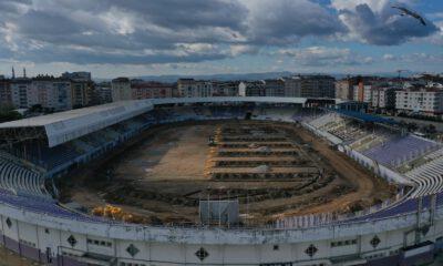 Gebze'deki stadyuma drenaj takviyesi