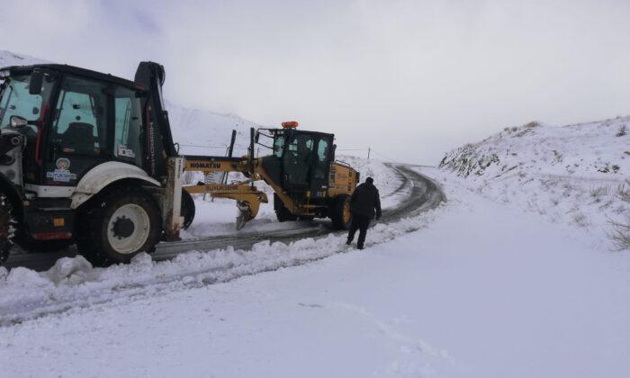 Malatya'da kar mesaisi