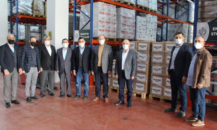 MÜSİAD Bursa'dan erzak desteği