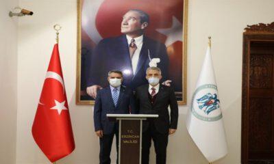 Tunceli Valisi Özkan'dan Erzincan'a ziyaret