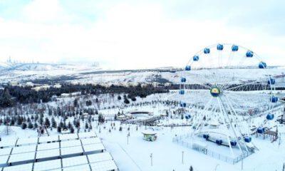 Ankara Gölbaşı'nda beyaz güzellik