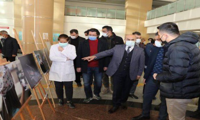 Mardin'de sağlık kahramanları için fotoğraf sergisi