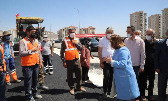 Gaziantep Şahinbey'de yeni yol çalışmaları