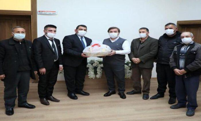 Aksaray'da üreticilerden Vali Aydoğdu'ya ziyaret