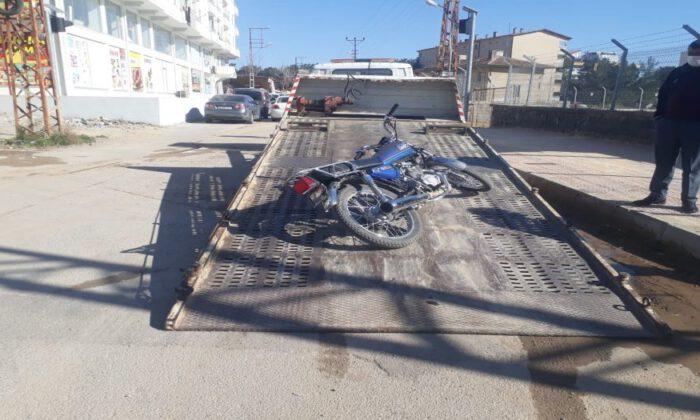 Kilis'te çalıntı motosikleti devriye gezen polis ekibi buldu