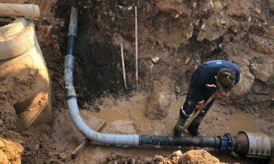 Muğla Yatağan'da içme suyu hattı çalışmaları